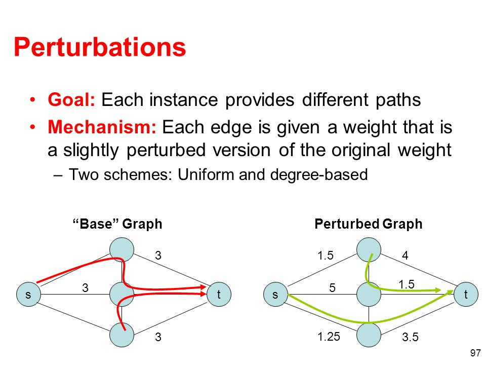 Perturbations Goal: Each instance provides different paths