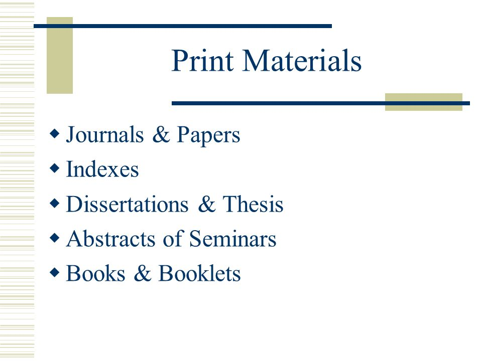 abstracts of thesis and dissertations