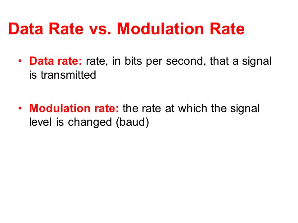 Data Rate vs. Modulation Rate