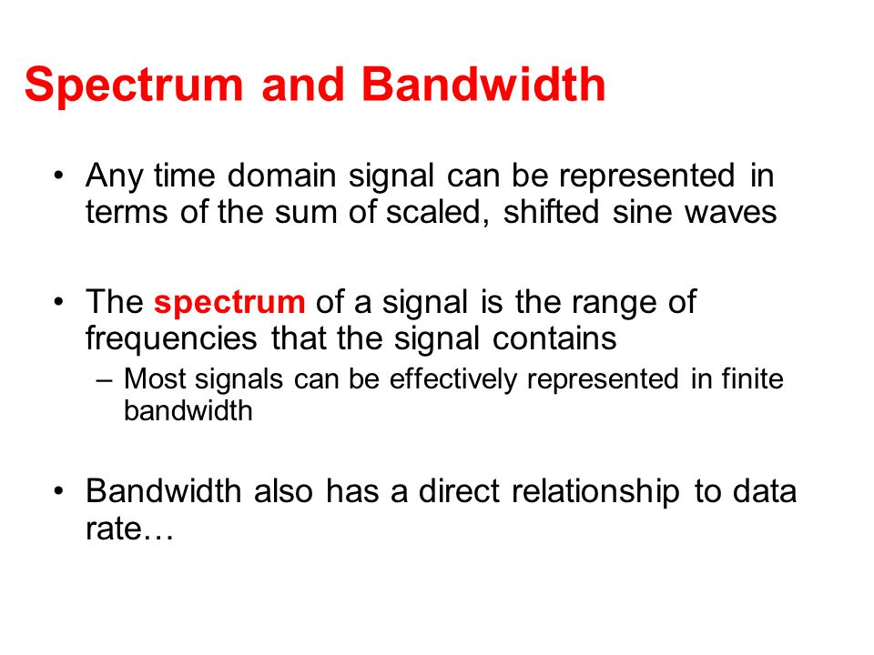 Spectrum and Bandwidth