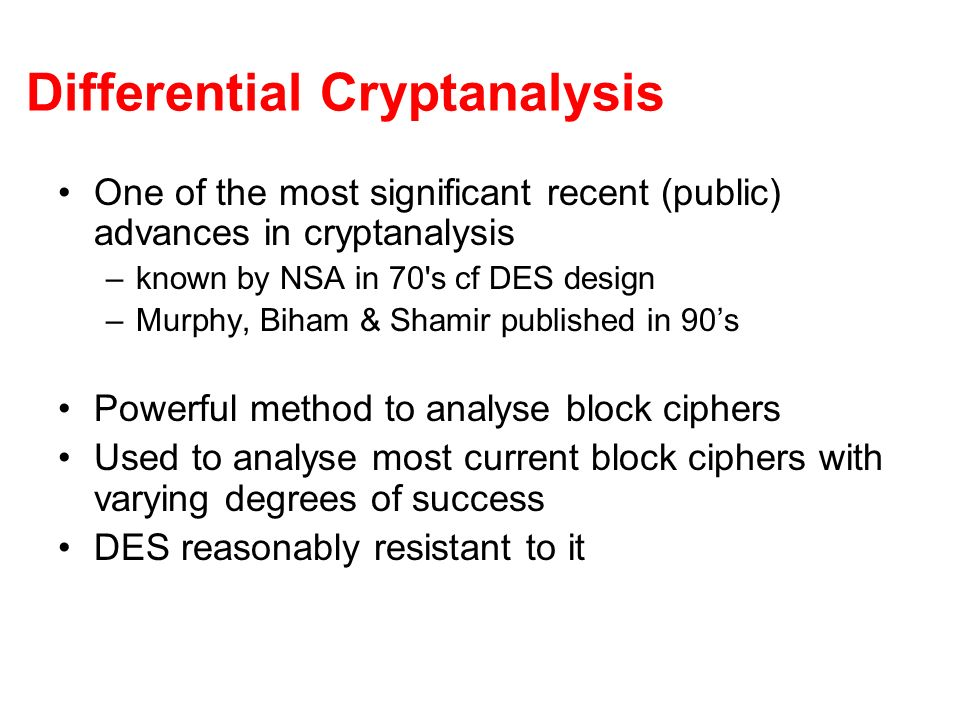 Differential Cryptanalysis