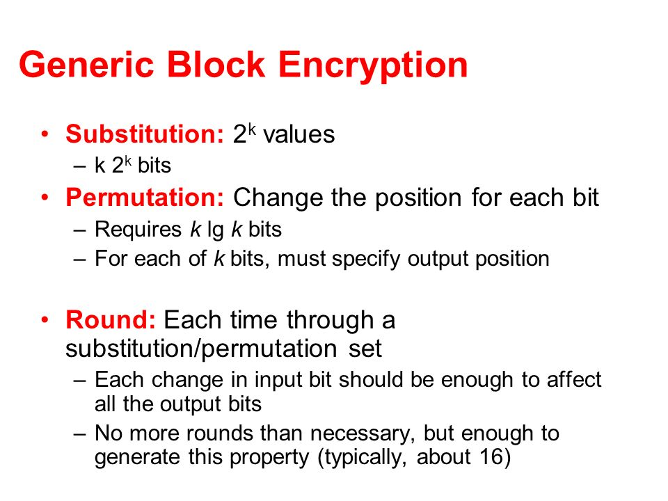 Generic Block Encryption