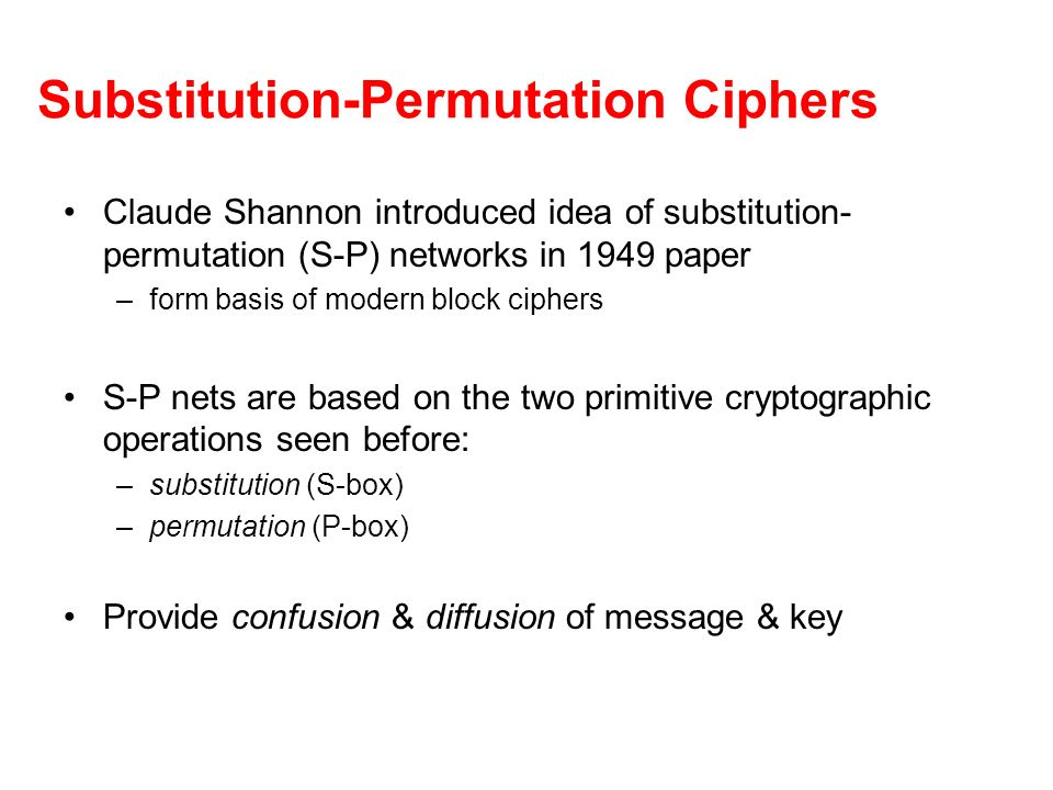 Substitution-Permutation Ciphers