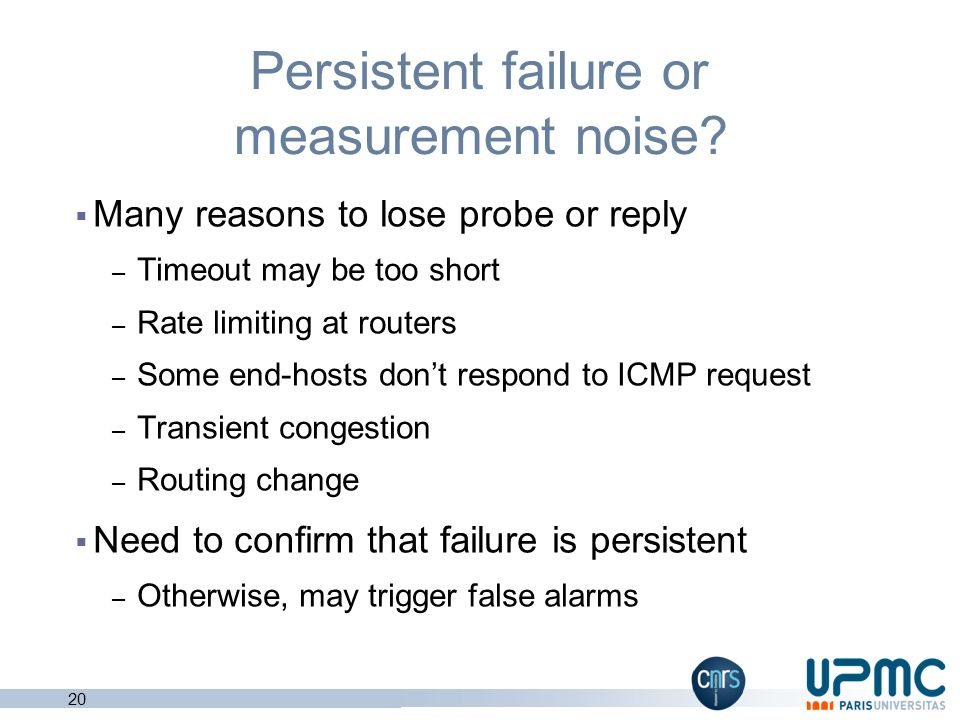 Persistent failure or measurement noise