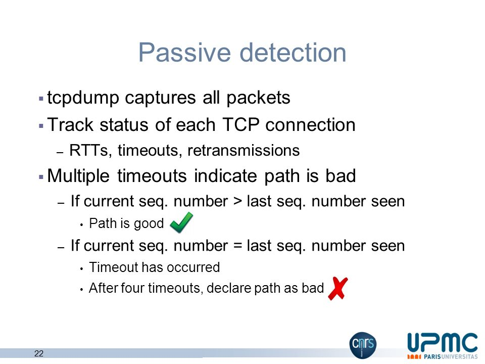 Passive detection tcpdump captures all packets