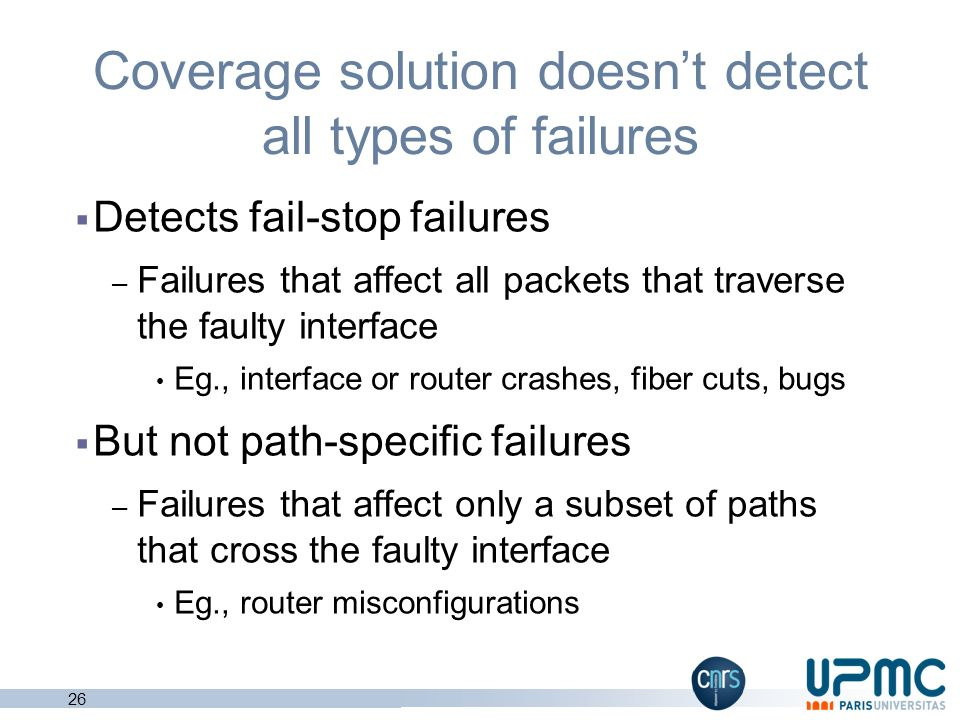 Coverage solution doesn't detect all types of failures