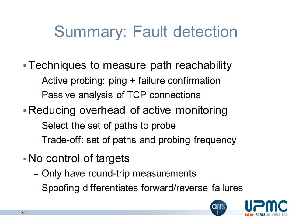 Summary: Fault detection
