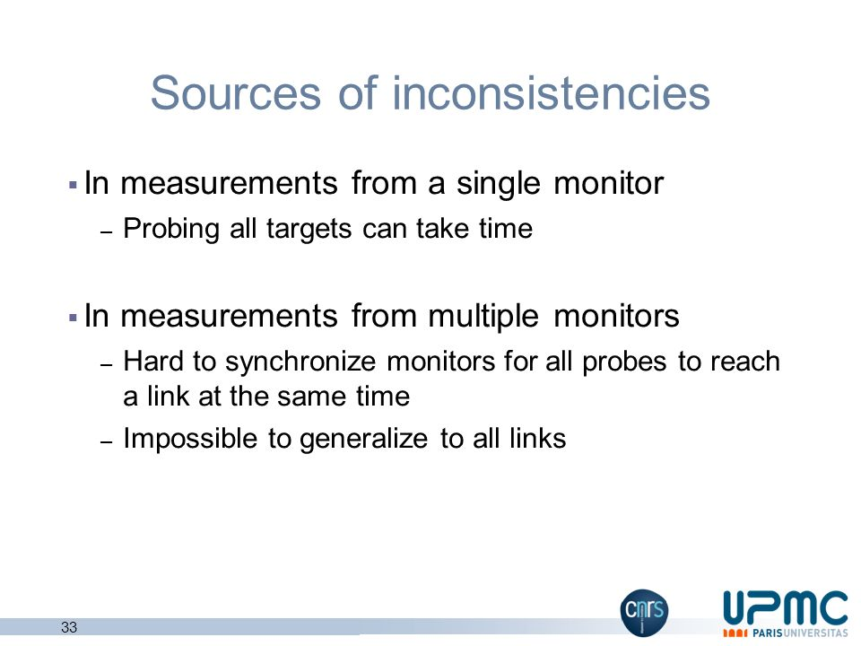 Sources of inconsistencies