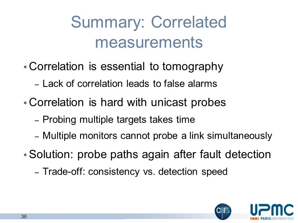 Summary: Correlated measurements