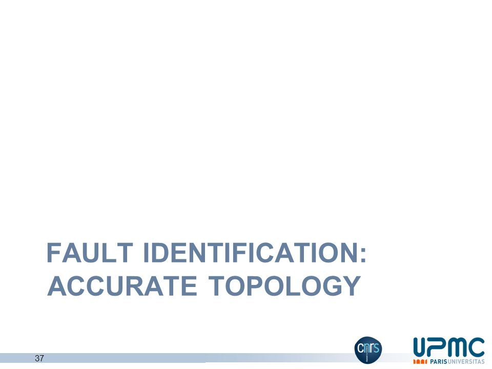 fault identification: accurate Topology
