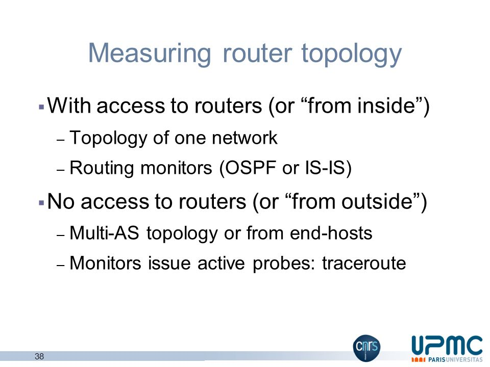 Measuring router topology