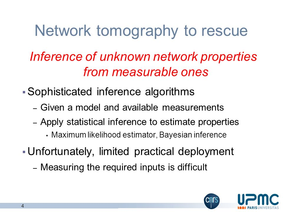 Network tomography to rescue