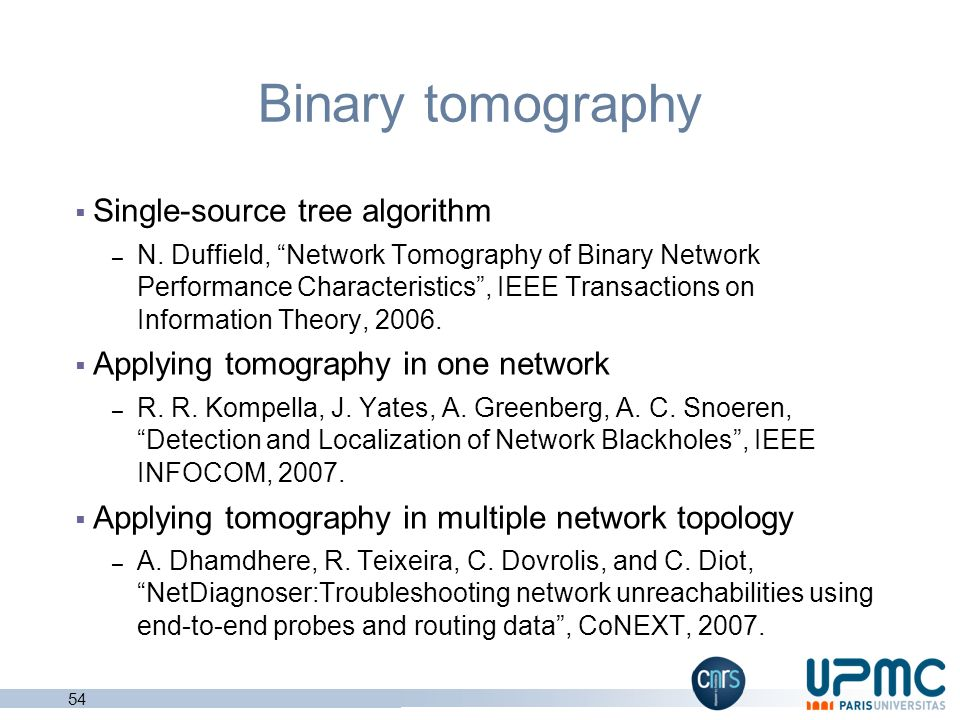 Binary tomography Single-source tree algorithm