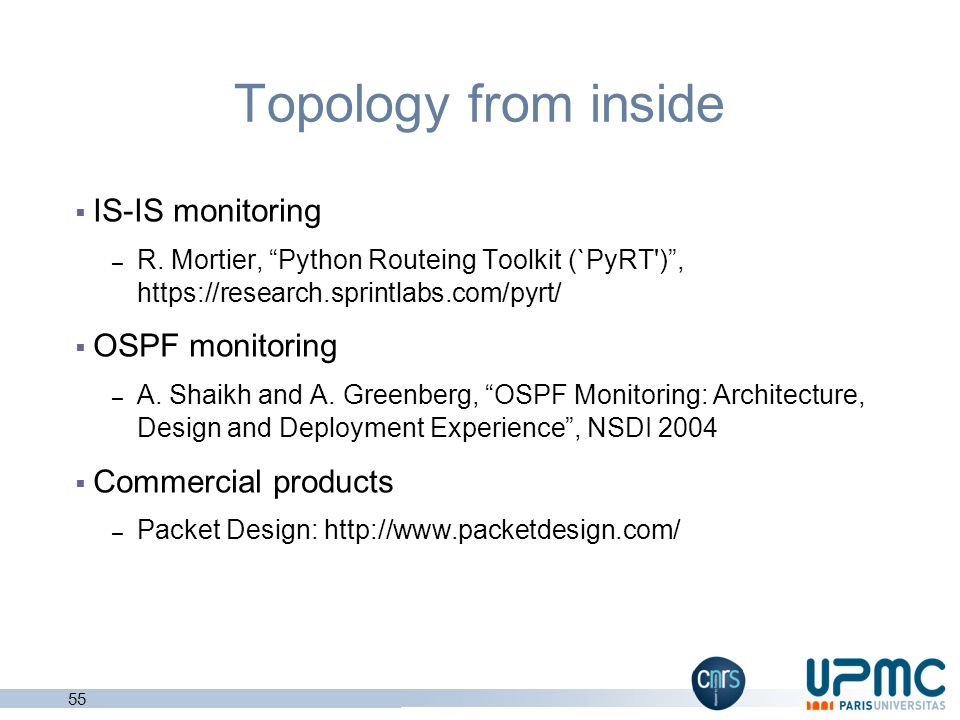 Topology from inside IS-IS monitoring OSPF monitoring