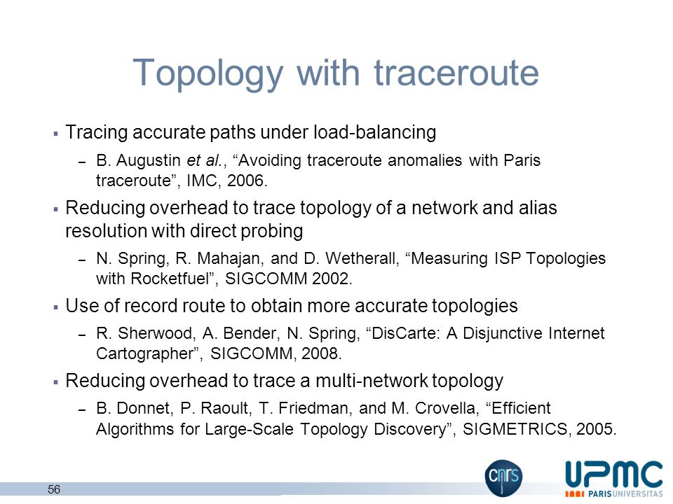 Topology with traceroute