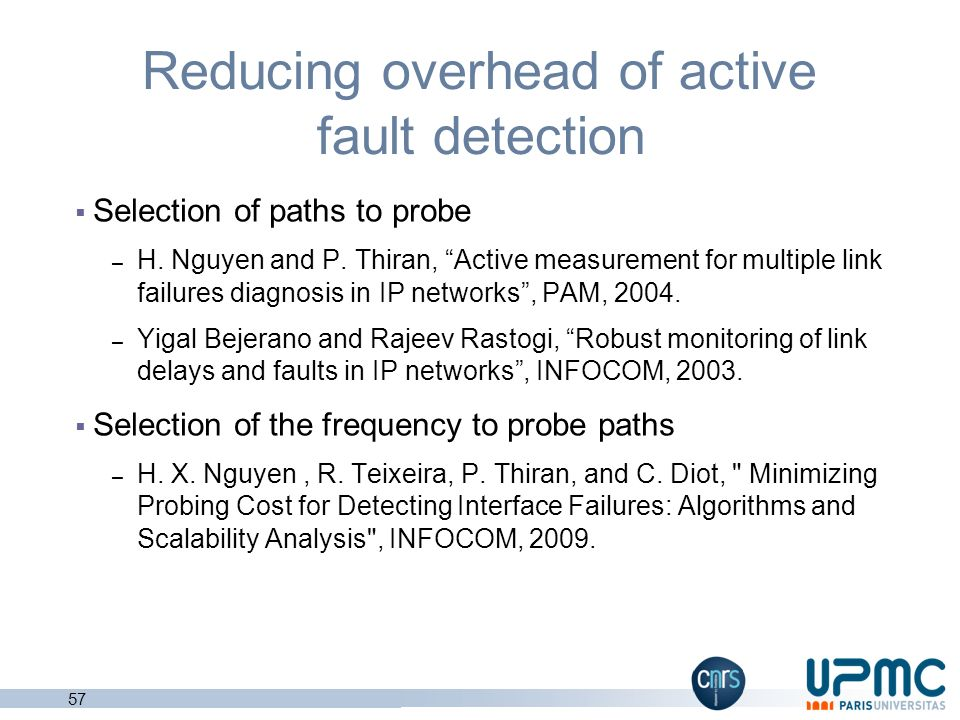 Reducing overhead of active fault detection