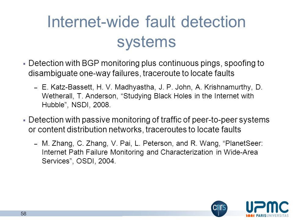 Internet-wide fault detection systems
