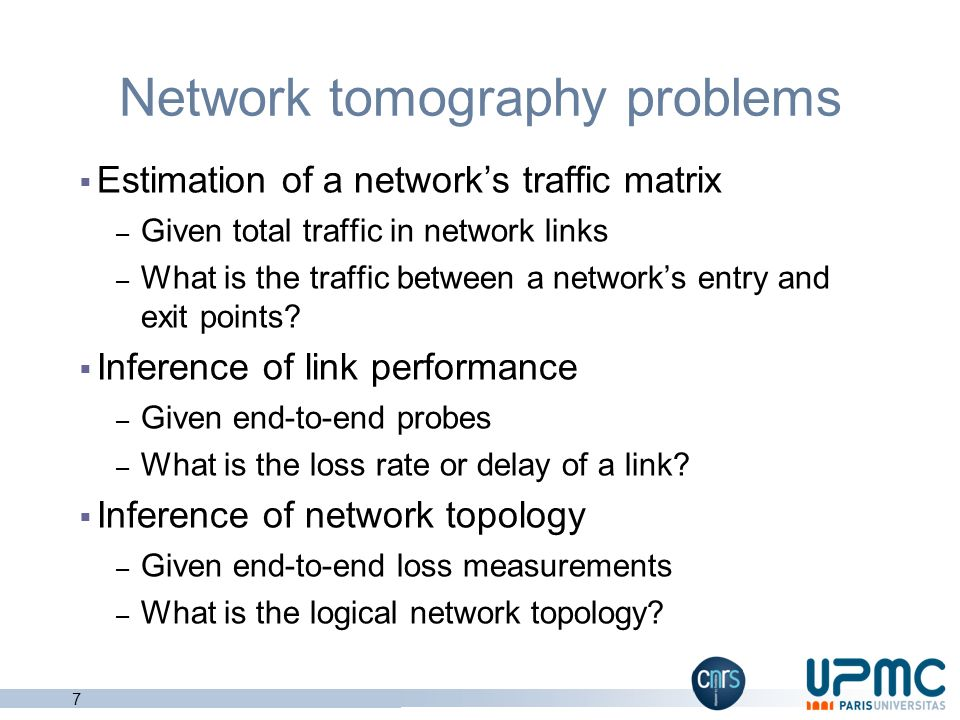 Network tomography problems