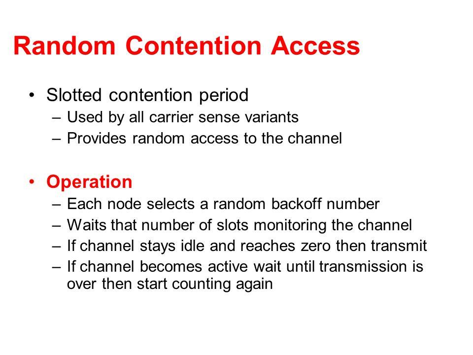 Random Contention Access