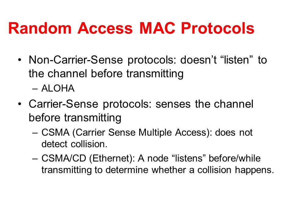 Random Access MAC Protocols