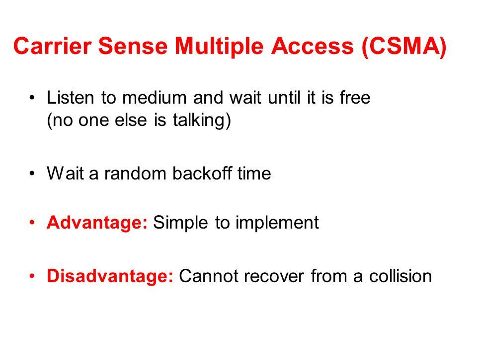 Carrier Sense Multiple Access (CSMA)