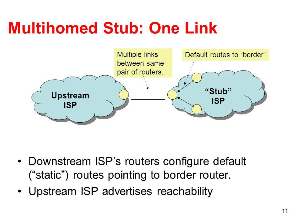 Multihomed Stub: One Link