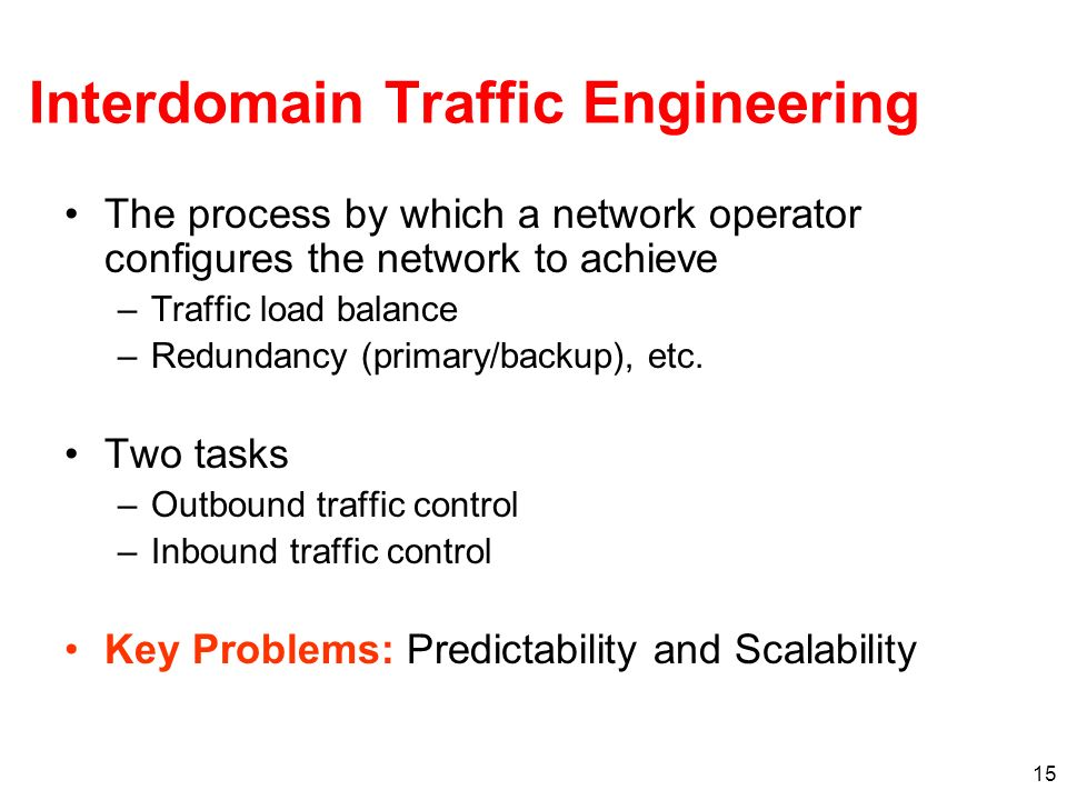 Interdomain Traffic Engineering