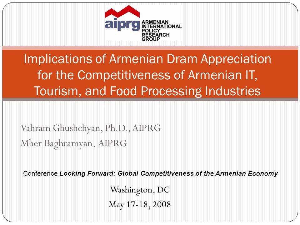 Vahram Ghushchyan, Ph.D., AIPRG Mher Baghramyan, AIPRG