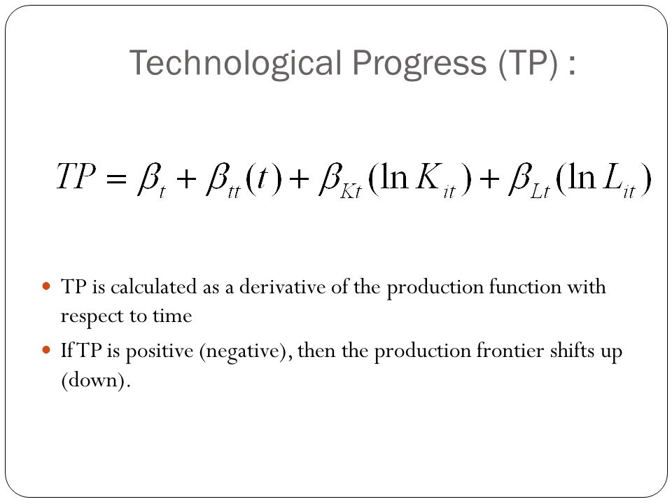 Technological Progress (TP) :