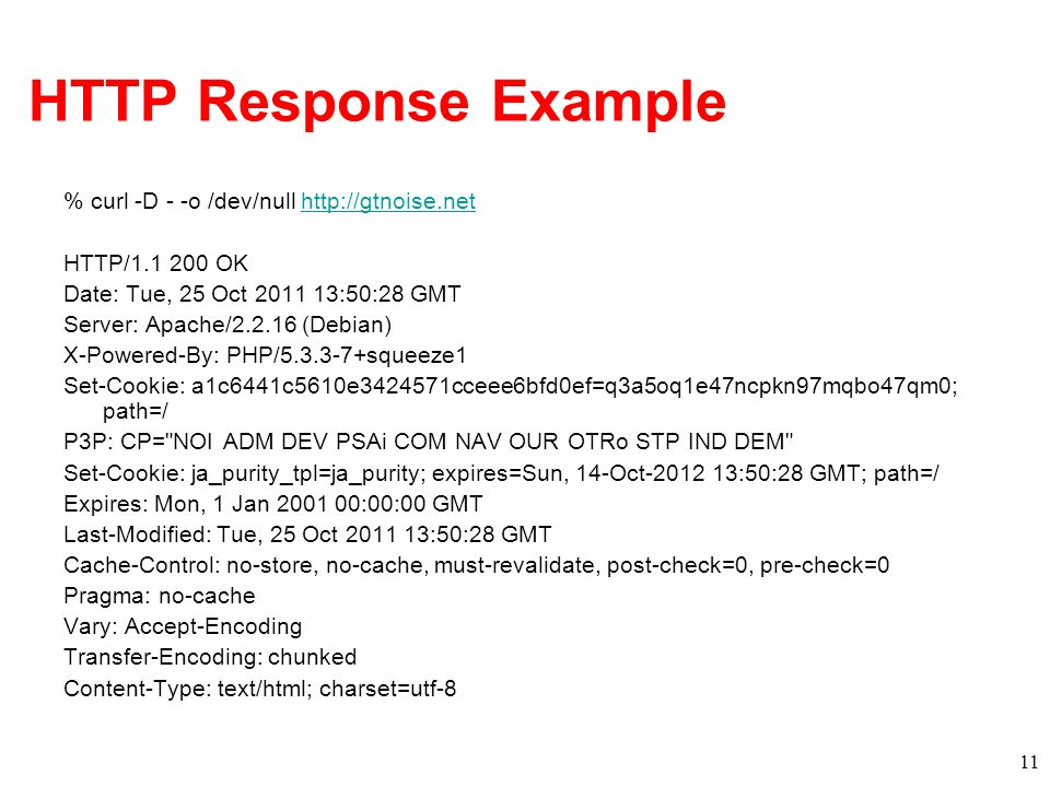 HTTP Response Example