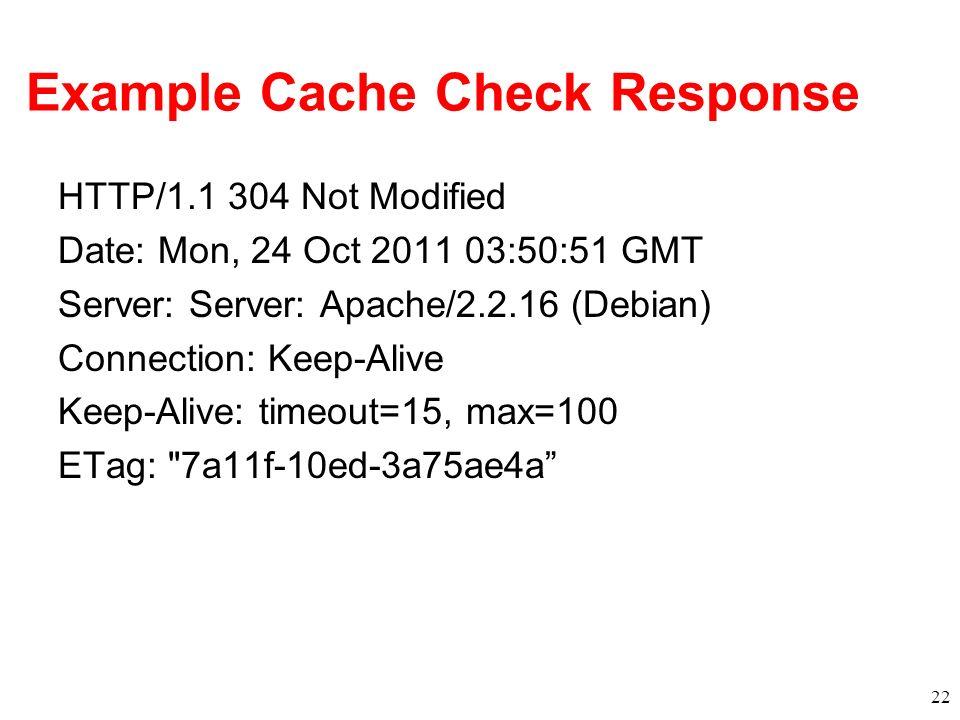 Example Cache Check Response