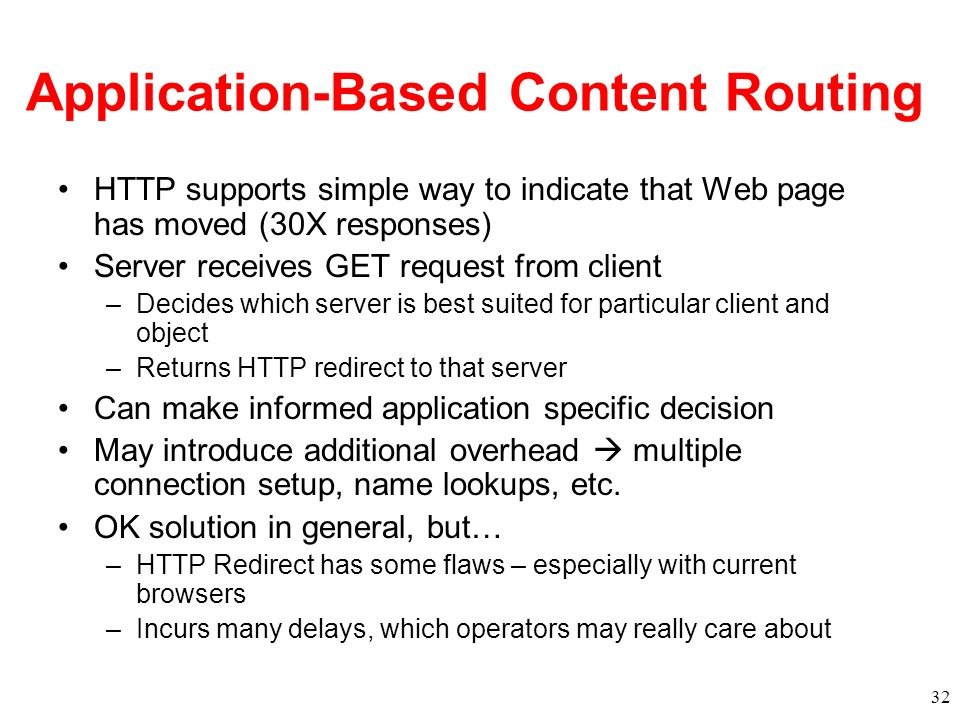 Application-Based Content Routing