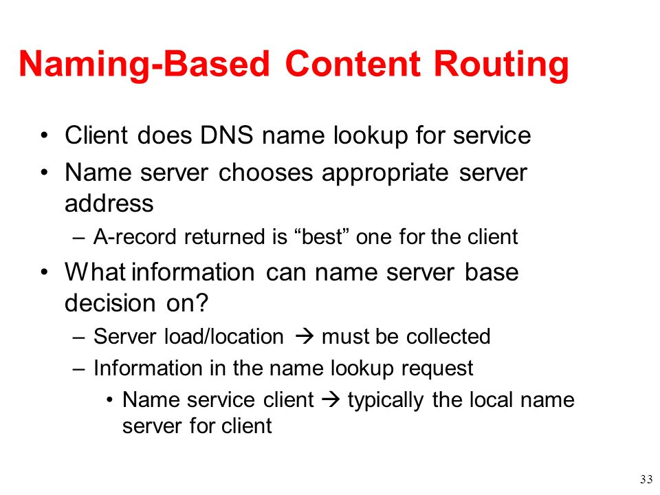 Naming-Based Content Routing