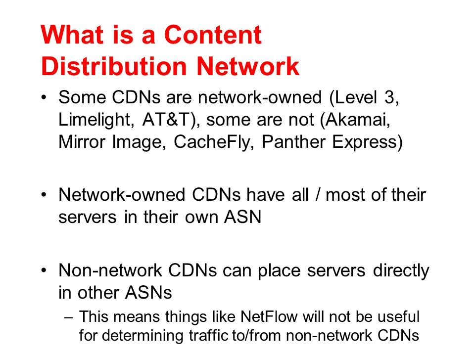 What is a Content Distribution Network