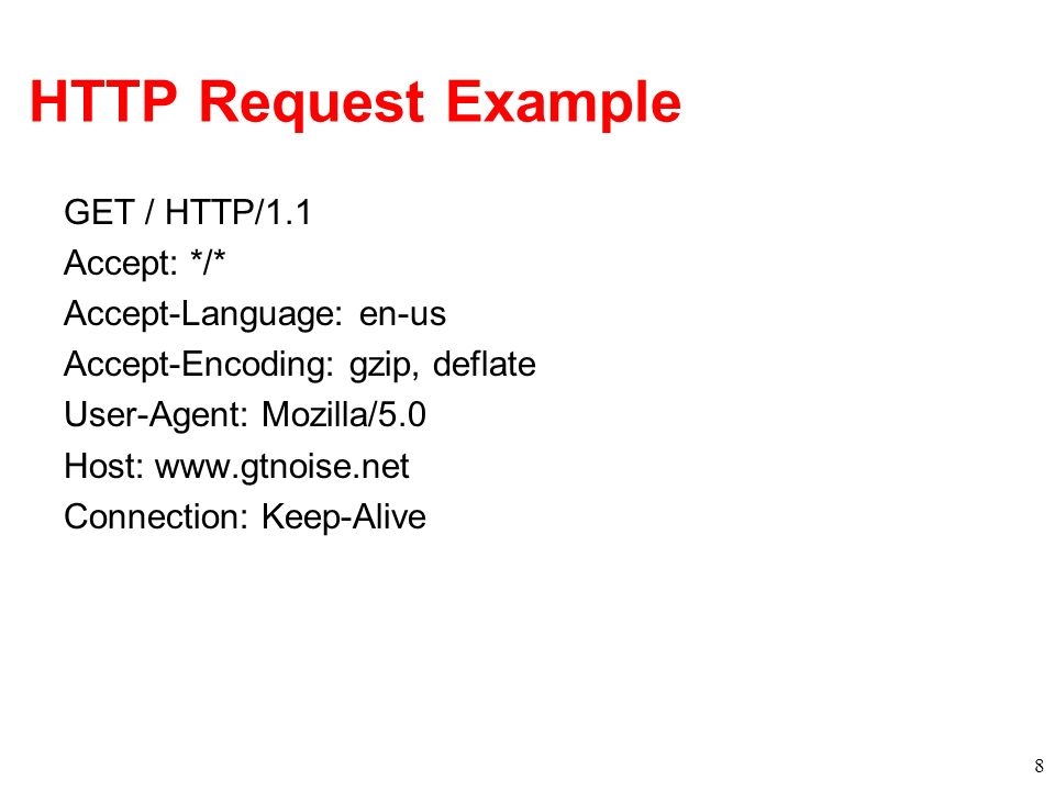 HTTP Request Example