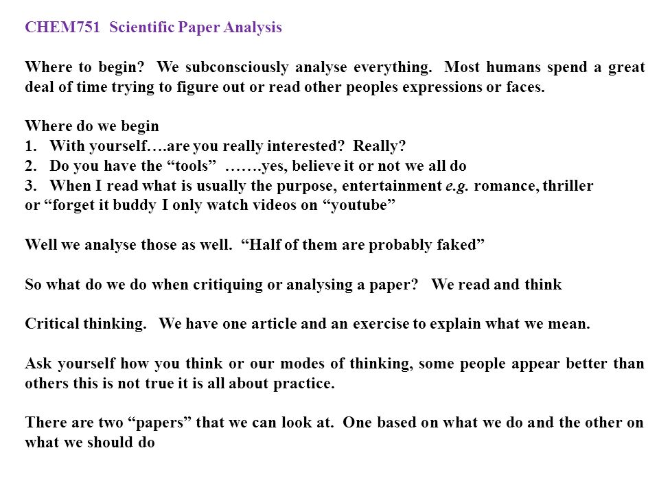 a guide to the critical reading of scientific research papers Need to apply the findings of scientific research to  this review presents a 10-step guide to critical  the basis of previous work18 seminal research papers.