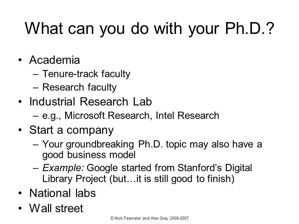 What can you do with your Ph.D.