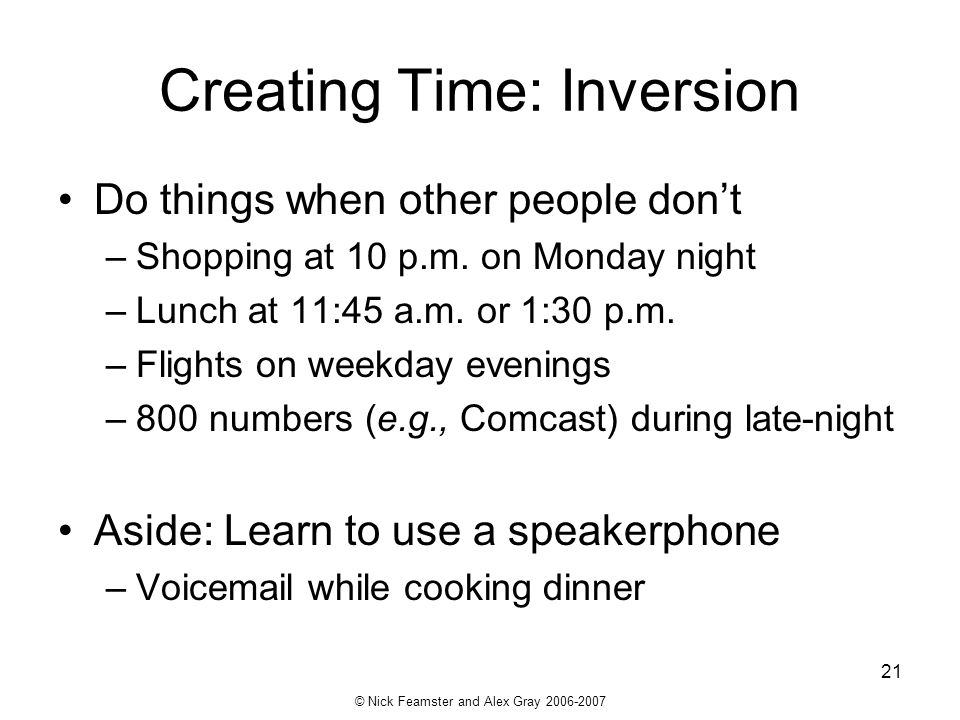 Creating Time: Inversion
