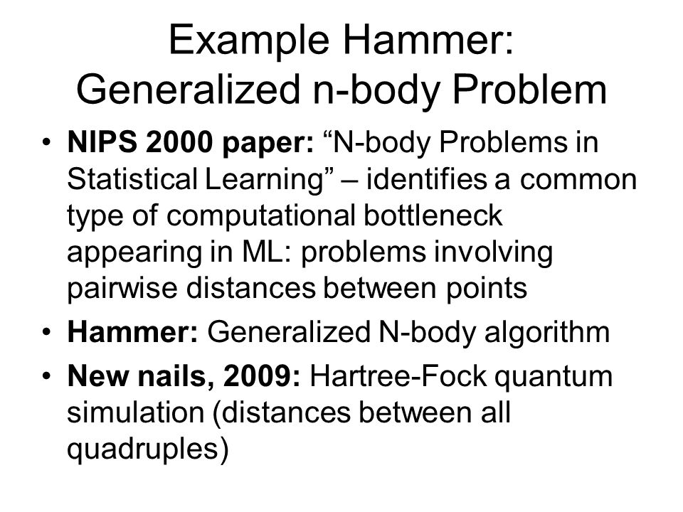 Example Hammer: Generalized n-body Problem