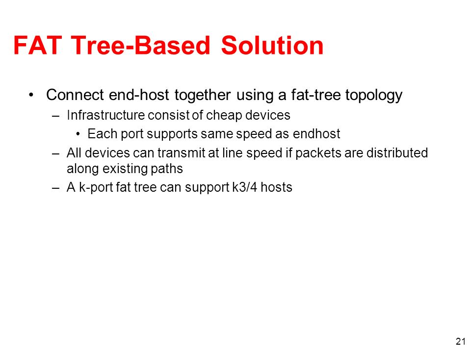 FAT Tree-Based Solution