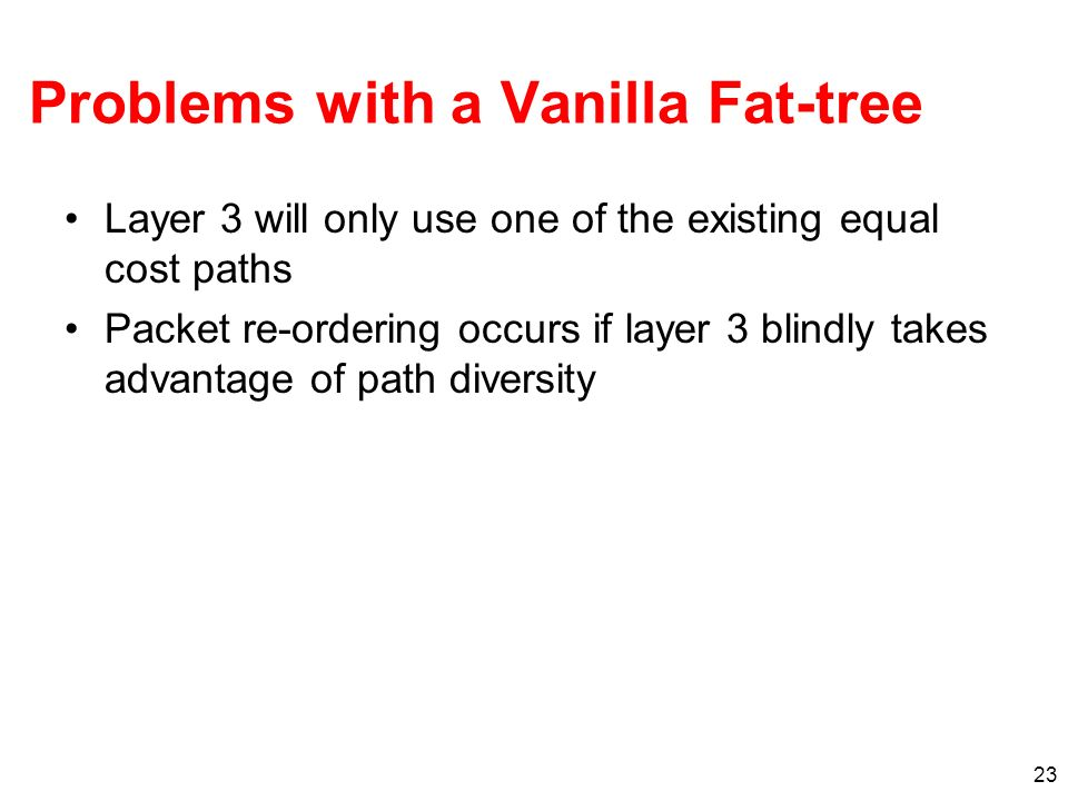 Problems with a Vanilla Fat-tree