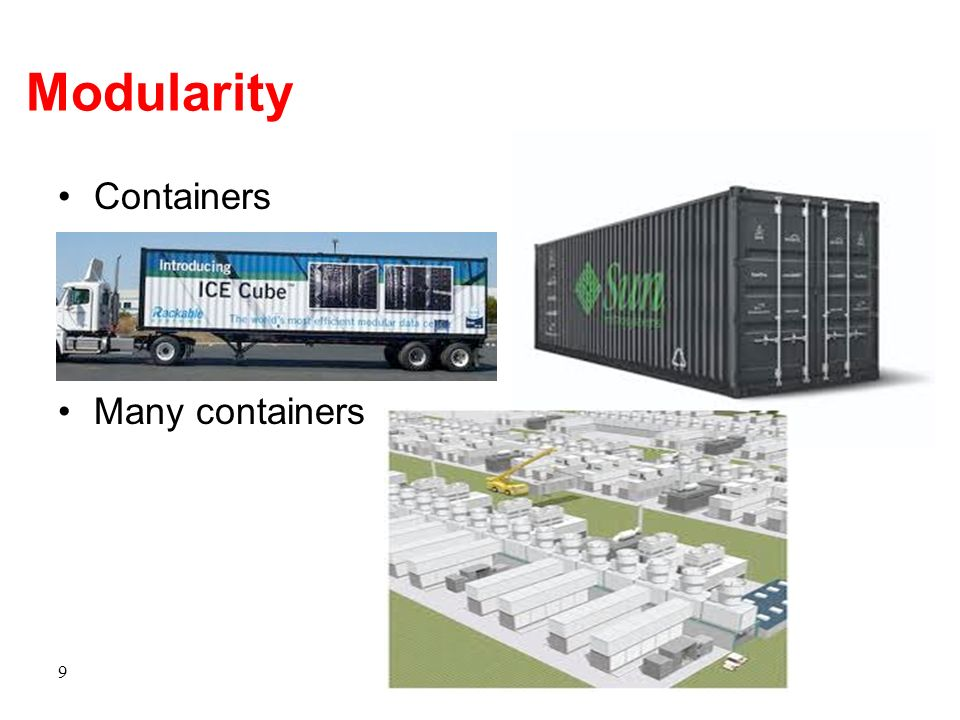 Modularity Containers Many containers