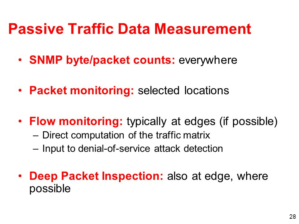 Passive Traffic Data Measurement
