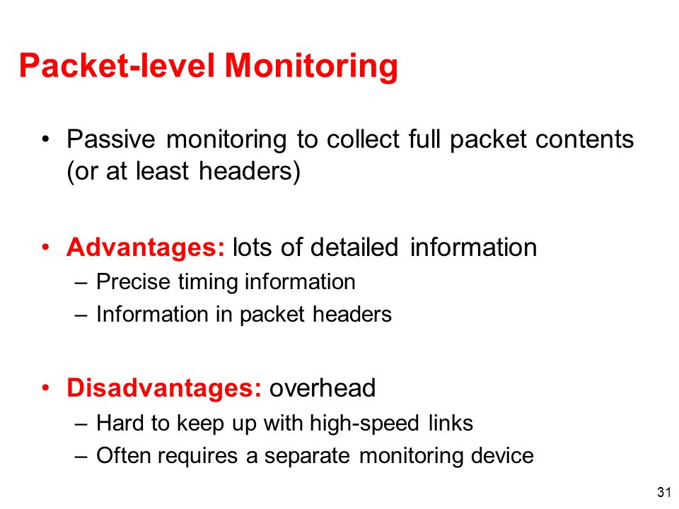 Packet-level Monitoring