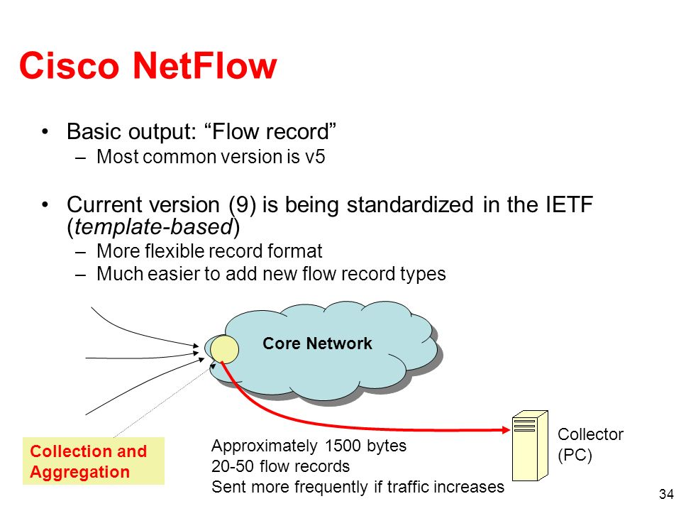 Cisco NetFlow Basic output: Flow record