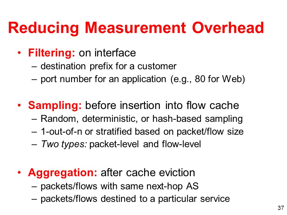 Reducing Measurement Overhead