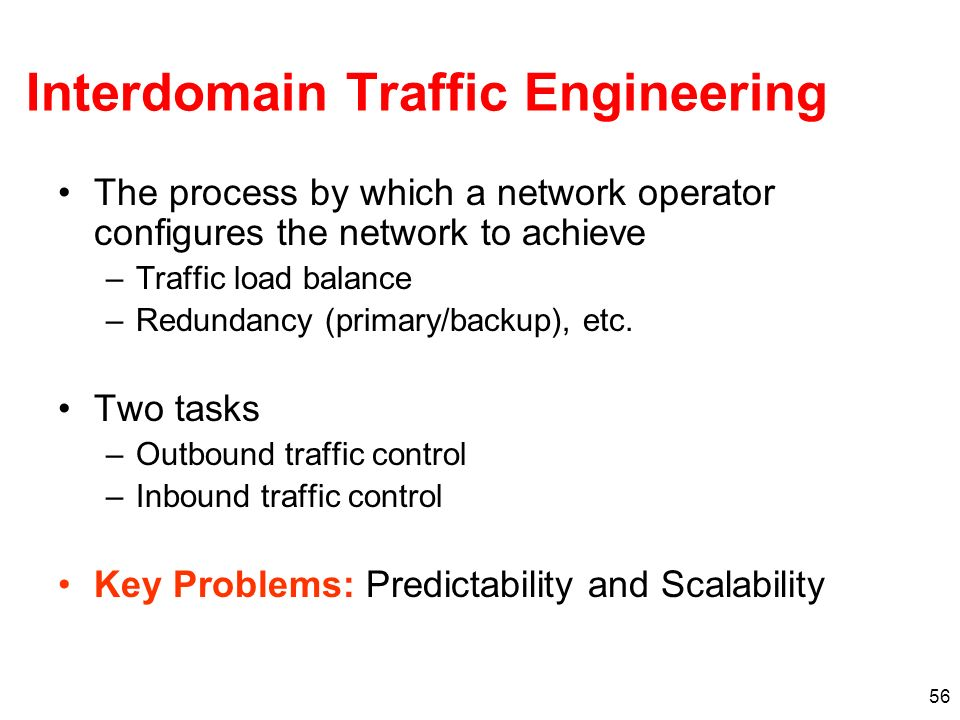 Interdomain Traffic Engineering