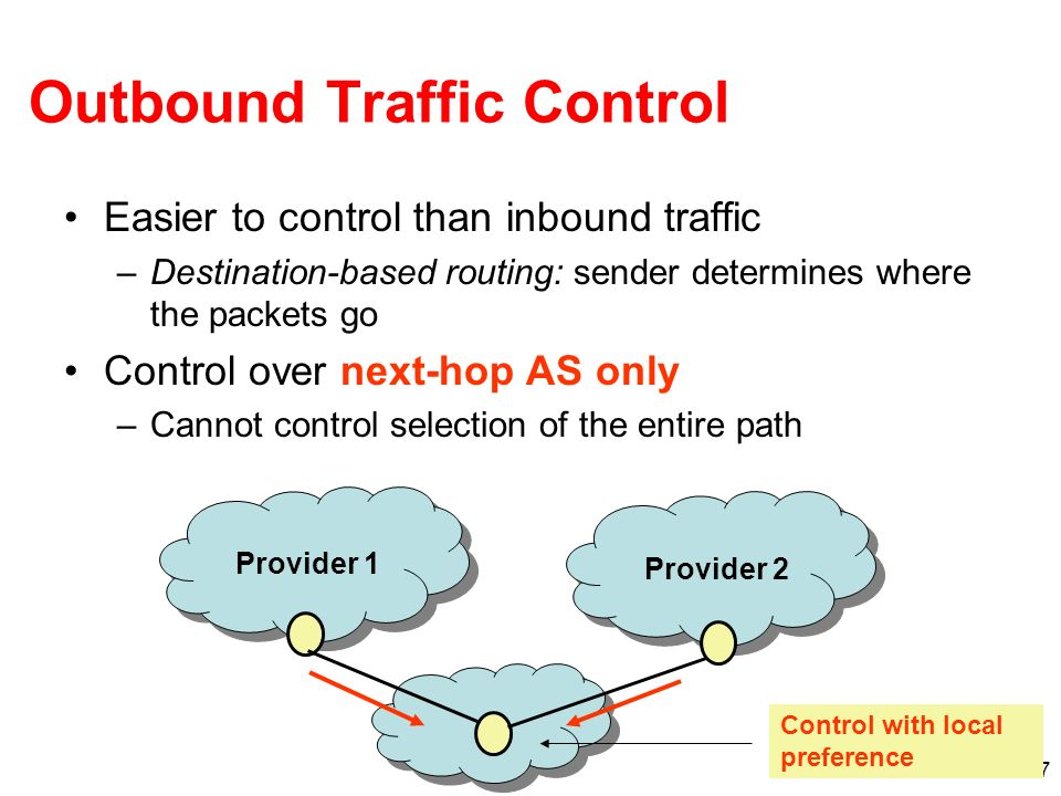 Outbound Traffic Control