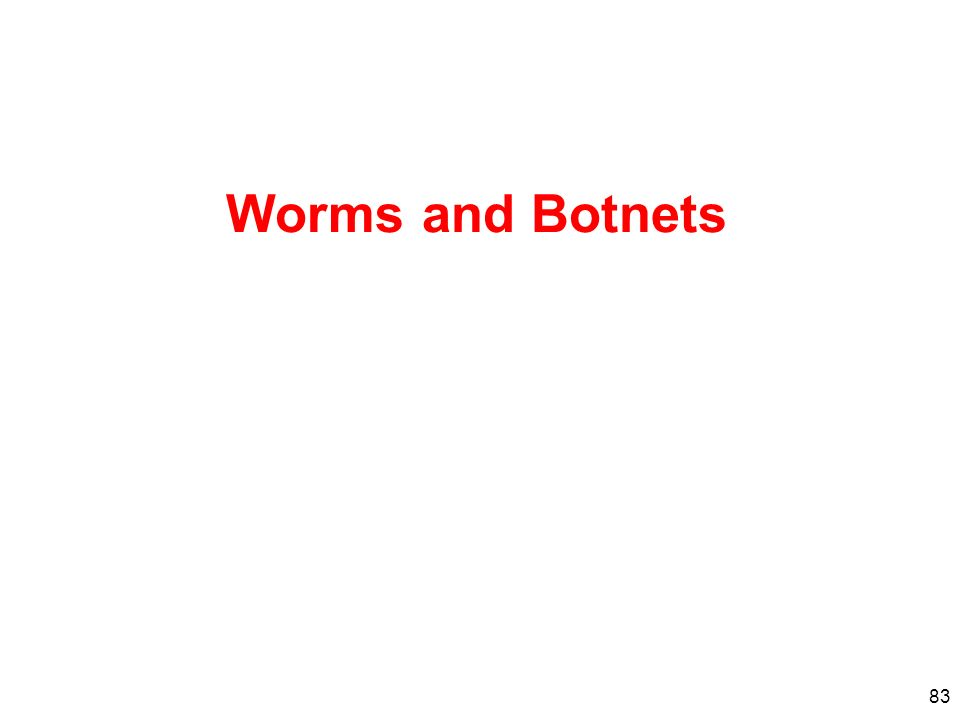 Worms and Botnets