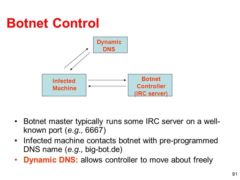 Botnet Controller (IRC server)